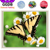 GGDB 5D Square Diamond Beautiful Butterfly With Daisy 3D Full Resin Diamond Embroidery Cross Stitch Mosaic