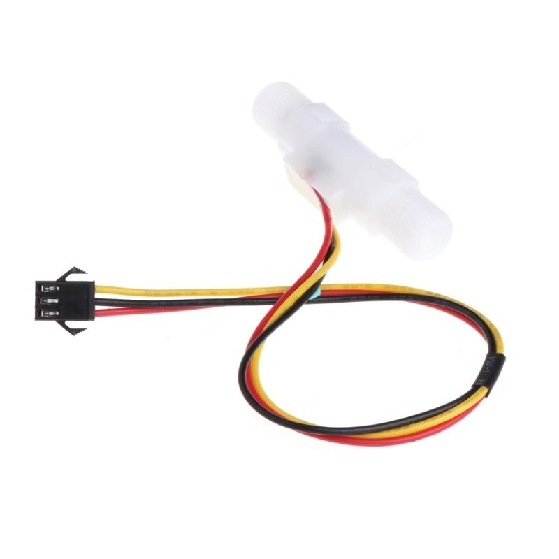 0,3-3.0l/min Kunststoff Wasser Flüssigkeit Ebene Flow Sensor Meter Männlichen G1/4