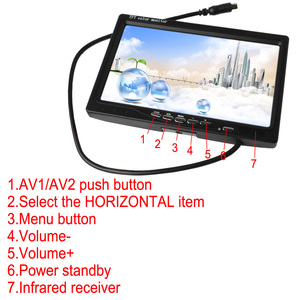 Image 4 - 7 Inch 2CH TFT Color LCD Screen Car Rear View Camera Monitor for Rear View Camera Auto Parking Backup Reverse Headrest Monitor