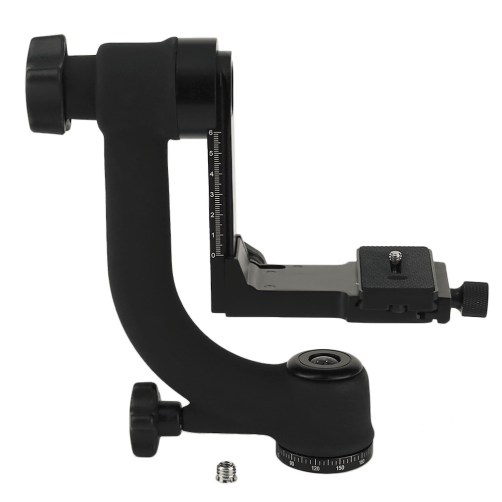 Practical 360 Degree Panoramic Gimbal Tripod Head for Digital SLR Camera with Quick Release Plate Bubble Level Newest