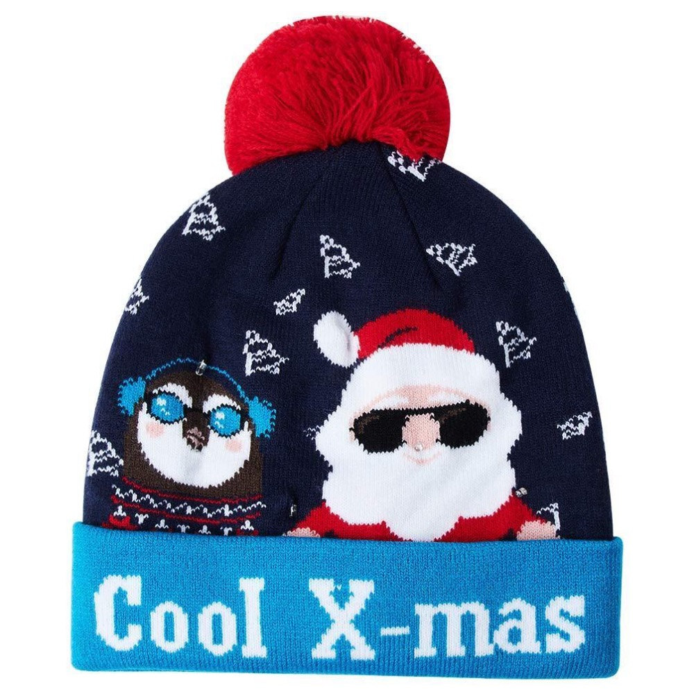 64779ab80 Hot Sale Knit Light Up Hat With Colorful LED Lights Beanie Knit Cap ...