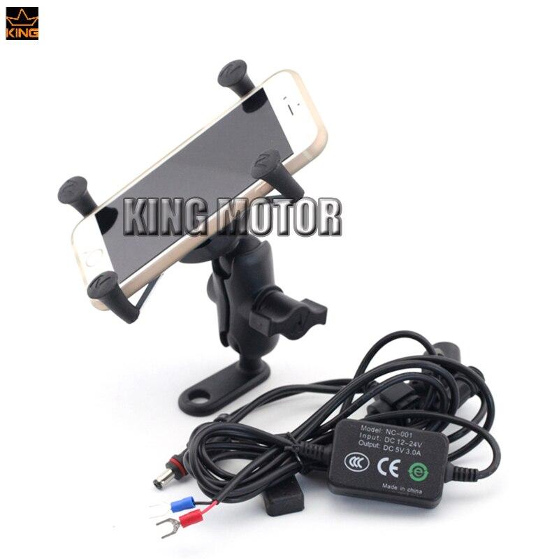 Для Триумф скорость тройной Тигр 800/800XC/1050/1200 мотоцикл навигации мобильный телефон держателя кронштейна с USB зарядное устройство