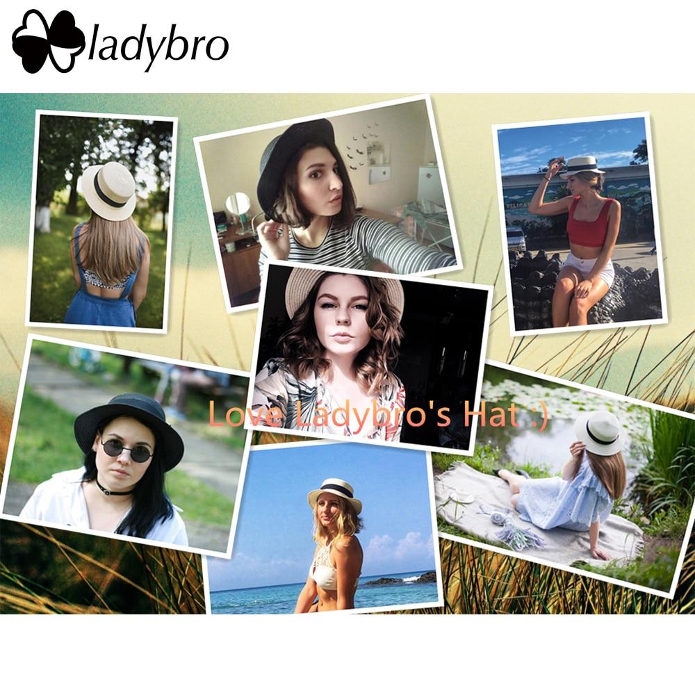 Ladybro 3pcs Sommar Kvinnor Hatt Kvinnlig Solhatt Boater Strand - Kläder tillbehör - Foto 2