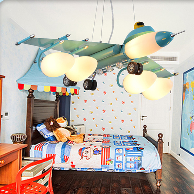 Chandeliers In The Nursery Chandelier Baby Room Deco Light Children Planes Fixture Lighting Led Bedroom Lamp