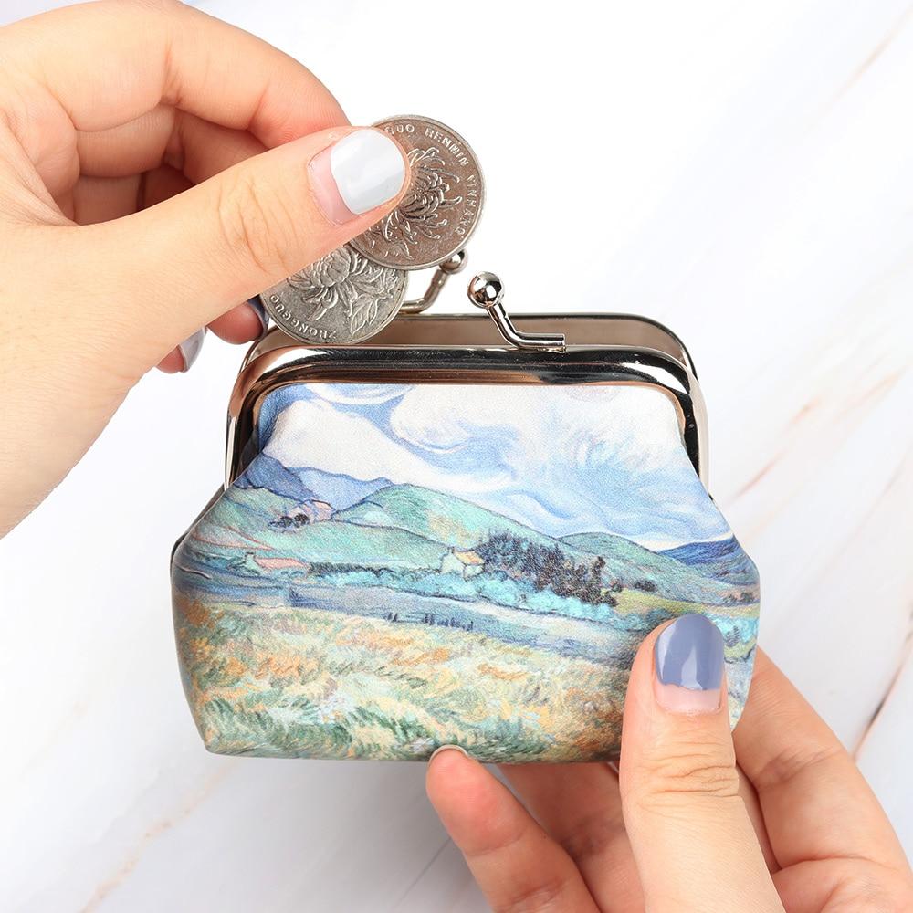 1 Stück Frauen Mädchen Vintage Münze Geldbörsen Kleine Mini Brieftasche Druck Haspe Bargeld Karte Brieftasche Mode Kupplung Mini Handtaschen Geld Null Tasche Zu Verkaufen