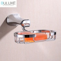 BULUXE Brass Bathroom Accessories Wall Mounted Soap Dish Holder Bath Acessorios de banheiro Soap Box HP7715
