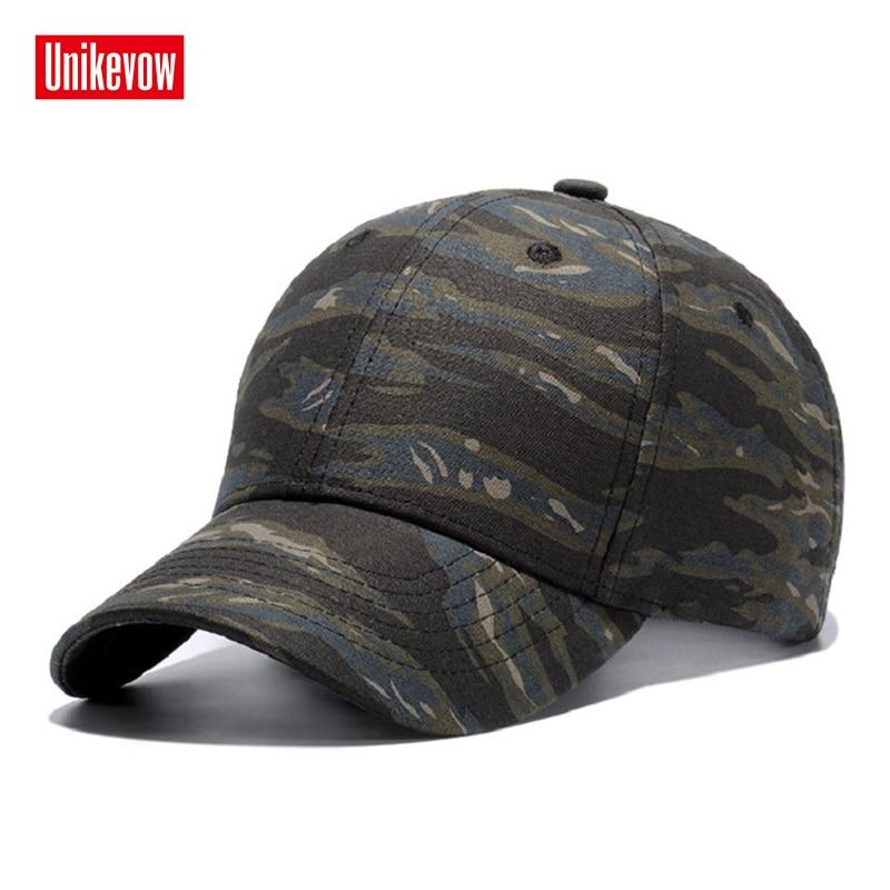Unikeov unisex katoen camouflage baseball caps casual hoed outdoor sport snapback cap voor mannen vrouwen hoge kwaliteit casquette