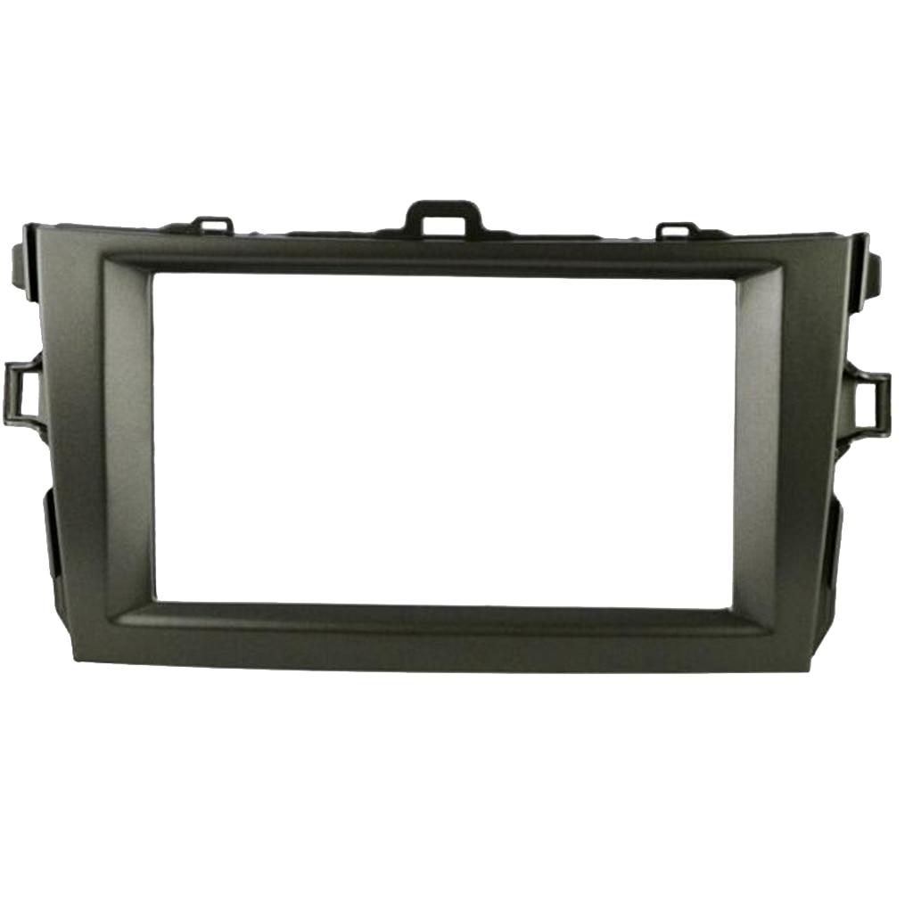 Car Dash Radio 2DIN Frame Fascia Panel Trim  For Toyota Corolla 2008-2010 High Quality ABS