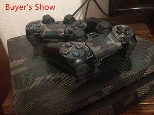 Image 2 - Adesivo camuflado decalque para playstation 4, adesivo camuflado de vinil à prova d água removível para console ps4 slim + 2 controlador de proteção, capa protetora