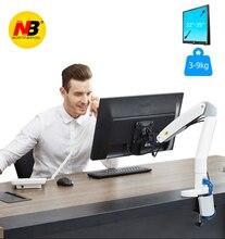 NB F100A Gas Frühling Arm 22 35 zoll Screen Monitor Halter 360 Drehen Tilt Swivel Desktop Monitor Montieren Arm mit Zwei USB Ports