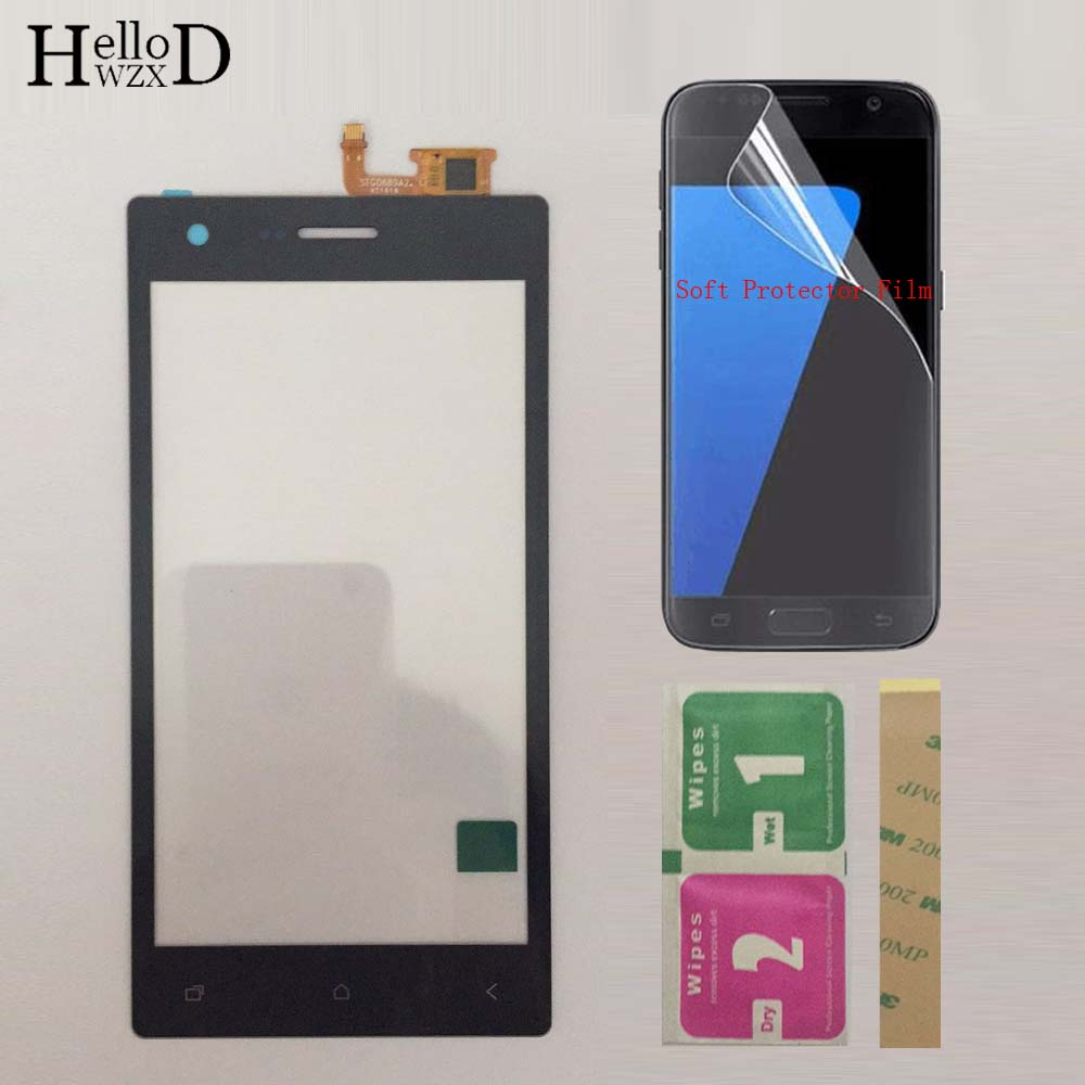 Mobile Phone Touch Screen For Micromax Q413 TouchScreen Front Glass Touch Screen Digitizer Panel Sensor Touchpad Protector Film