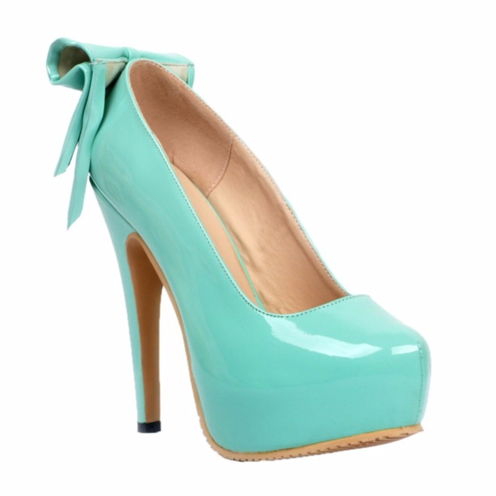 Womens Fashion Handmade 14.5cm High Heel Platform Large Size Party Prom Pumps Shoes XD005 womens fashion handmade 110mm open toe metal deco high heel party evening prom sandals shoes xd167