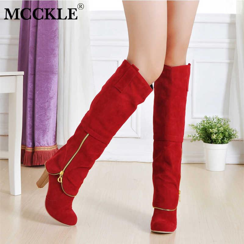 Kadın diz yüksek çizmeler moda uzun kovboy çizmeleri kadın fermuar süet platformu bayanlar yüksek topuk ayakkabı eğlence ayakkabı