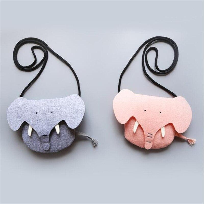 Girl Mini Satchel Elephant Shape Crossbody Kindergarten Baby Coin Crossbody Bag Cartoon Cute Children's Accessories Jewelry Bag