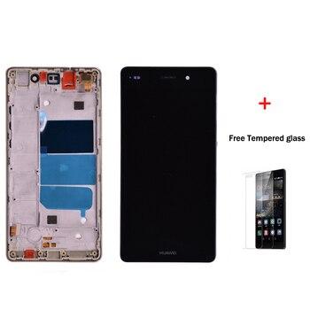 Orijinal Huawei P8 Lite ALE-L04 ALE-L21 lcd ekran Ile dokunmatik ekranlı sayısallaştırıcı grup çerçeve ücretsiz kargo Ile