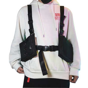 West Hip Hop Streetwear Men Functional Waist Packs Bag Adjustable Waistcoat Man Tactical Shoulder Bags Rig Chest Bag 501 - DISCOUNT ITEM  32% OFF All Category