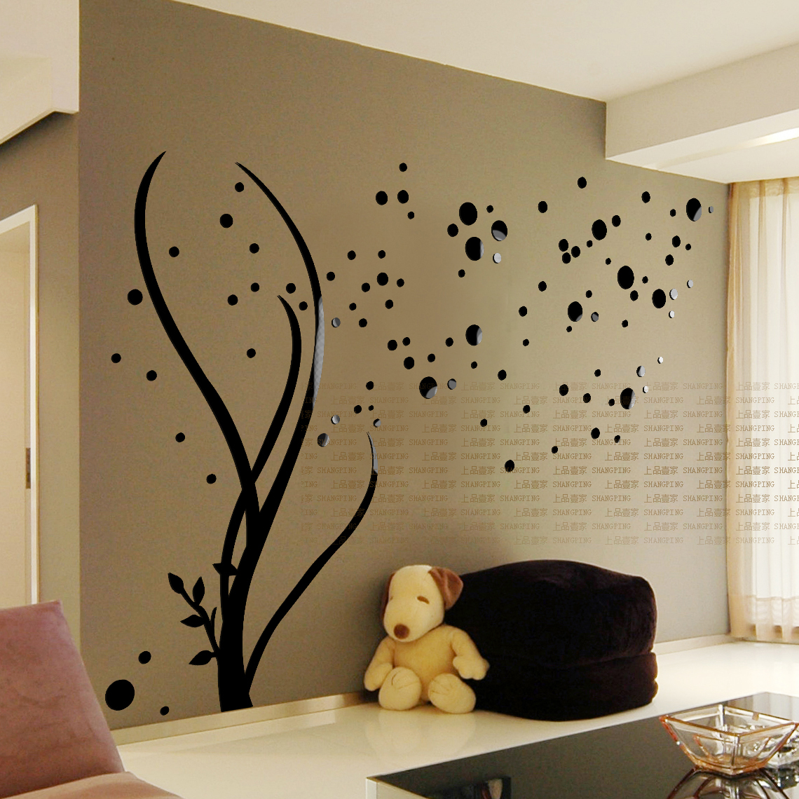 Starry Home Accessories Acrylic Crystal Three Dimensional Wall Stickers Tv Background Decoration
