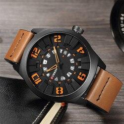 2018 New CURREN Watches Men Fashion Luxury Man Sport Clock Male Military Wristwatch Leather Quartz Watch Relogio Masculino 8258