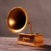 1 PCS Creative new exotic gifts Home decorations Vintage old crafts Gramophone ornaments LU707121