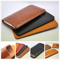 Super Slim Sleeve Pouch Cover Vintage Microfiber Phone Bag Case For Sony Xperia XA Ultra Dual