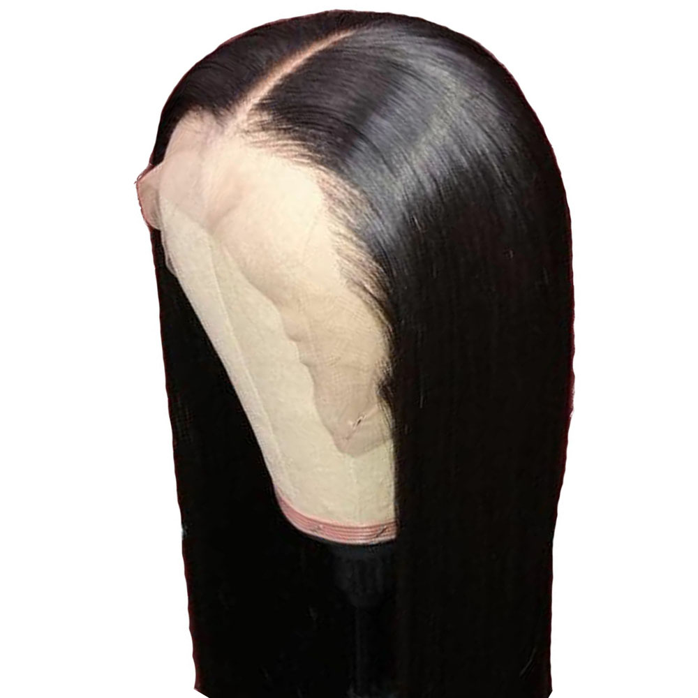 Brazilian Straight Wig 360 Lace Frontal Wig Pre Plucked With Baby Hair Preplucked Bleached Knots Glueless