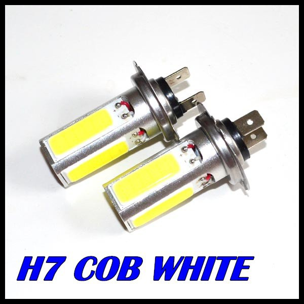Free Shipping 10 X  COB LED Lamp H7 led COB DRL Day Driving Head Light Fog Bulb White Car Super Bright cob 20w led super bright h7 8 led white car vehicle bulb fog driving daytime light lamp 12v free shipping