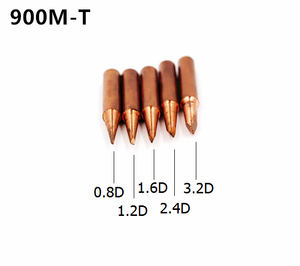 Image 3 - 15 أنواع 10 قطعة/الوحدة النحاس النقي لحام الحديد نصائح عدة 900M T سلسلة لحام خالية من الرصاص رئيس لحام أداة محطة إعادة العمل