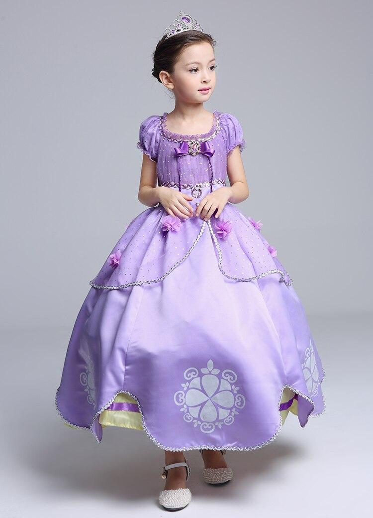 Princesa Sofia Vestido Da Menina Princesa Sofia Roxo Vestido longo ...