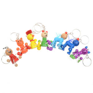 Toys Crafts Wooden Animal Funny Baby Children Cartoon Cute 1pcs for Gift Links Mobile-Phone