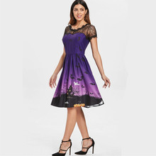 clothes women dress new ladies female halloween  classic popular retro elegant party travel fall womenshot dresses
