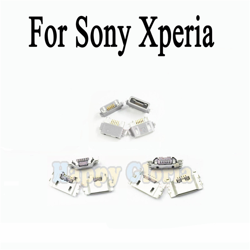 2pcs Micro USB Jack Connector Socket For Sony Xperia Z Z1 L39H Z2 L50W Z3 L55T Compact Z Ultra XL39H Charging Port Charge Socket