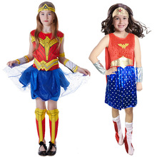 Christmas Day Halloween girl cosplay costume childrens day Wonder Woman performance women show justice Alliance