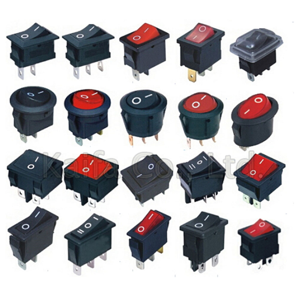 5pcs/lot SPST 2/3/4/6PIN ON/OFF Round/Square Boat Rocker Switch Car Dash Dashboard Truck RV ATV Home KCD 10pcs kcd11 101 3a 250v small black 10 15mm spst 2pin on off g130 boat rocker switch car dash dashboard truck rv atv home