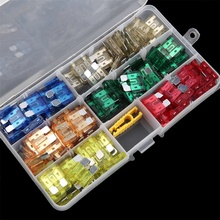 CATUO 120 pcs Profile Medium Size Blade Fuse Assortment Set Auto Car Truck 2A 3A 5A 7.5A 10A 15A 20A 25A 30A 35A Free Shipping