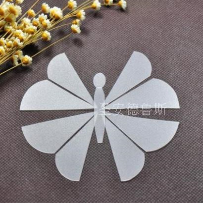 10cm plastic patchwork stitching butterfly template quilting cutting translucent matte board quilting tools mosaic butterfly in rulers from office school