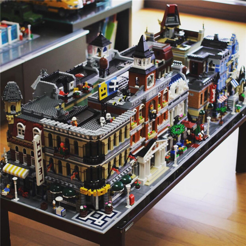 Lepin Creator Expert City Street View Series 15001-15012 15019 15037 Model Building Blocks Bricks Kits Sets Toys For Children city architecture mini street scene view reims cathedral police headquarters library fire departmen building blocks sets toys