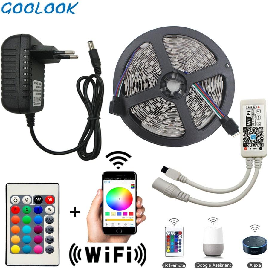 WiFi Led Strip Light SMD 5050 60led 2835 RGB Led Stripe DiodeTape DC12V Flexible RGB LED Innrech Market.com