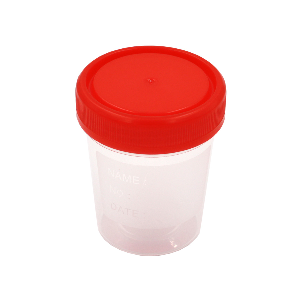 Practical Plastic Specimen Cup Urine container 60ml EO Sterile Laboratory Medical Use
