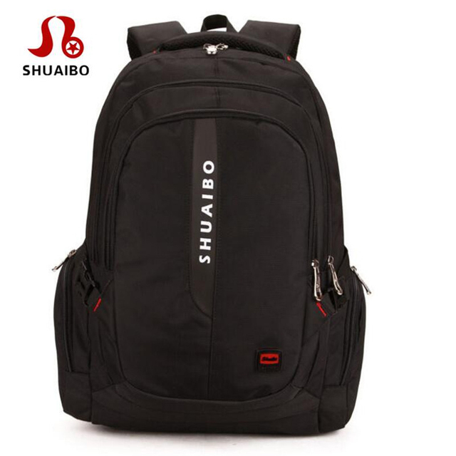 f9102a73aa4a SHUAIBO New 2017 Fashion Casual Men Backpacks Korean Student School Bags 16  Inches Computer Bagpack Brand Travel Rucksack A321