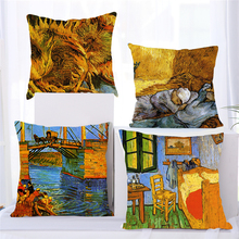 Fuwatacchi Pillow Case 45*45 Home Decor Cushion Cover Throw Covers European Classical Art Van Gogh Oil Painting Printed
