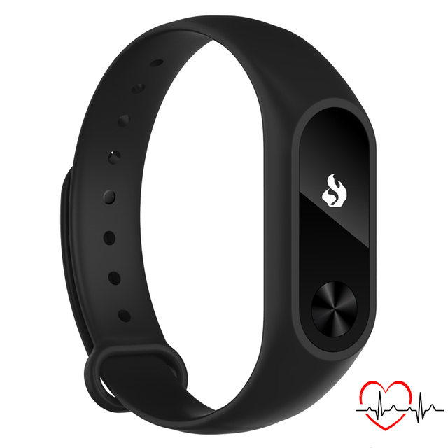 TEZER NEW Wrist band Smart bracelet for Smartphone with  Bluetooth 4.0  Sleep Tracker Heart Rate Monitor black color  Y2