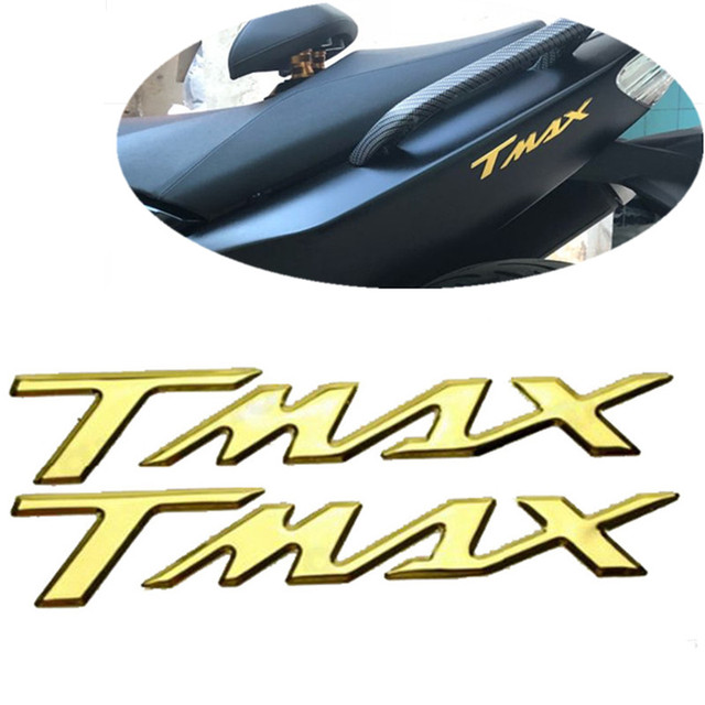 """2x 3D Logo """"TMAX"""" Motorcycle Emblem Badge Decoration Decals Pad Protector Cover Stickers For Yamaha TMAX 500 530 T-MAX 500 530"""