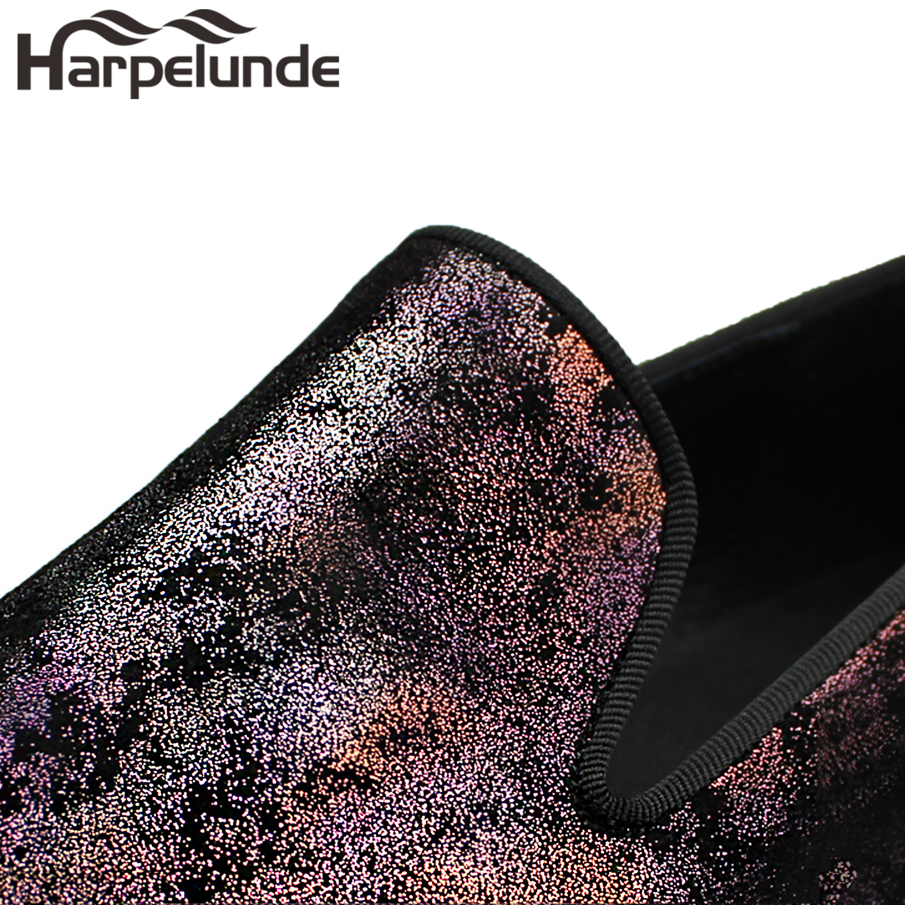 Harpelunde Men Dress Wedding Shoes Painting Leather Flats in Formal Shoes from Shoes