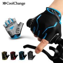 CoolChange перчатки Половина Finger мужские женские летние спортивные противоударный велосипед Прихватки для мангала гель MTB перчатки велосипедные Ciclismo