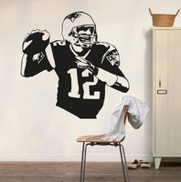 New England Patriots Tom Brady Wall Decal Art Sticker Vinyl Home Decoration Living House Tom Brady
