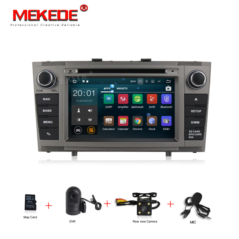 Android 7.1 Car DVD Stereo Multimedia Headunit For Toyota T27 Avensis 2009-2014 Auto PC Radio GPS Navigation Video Audio 2G RAM