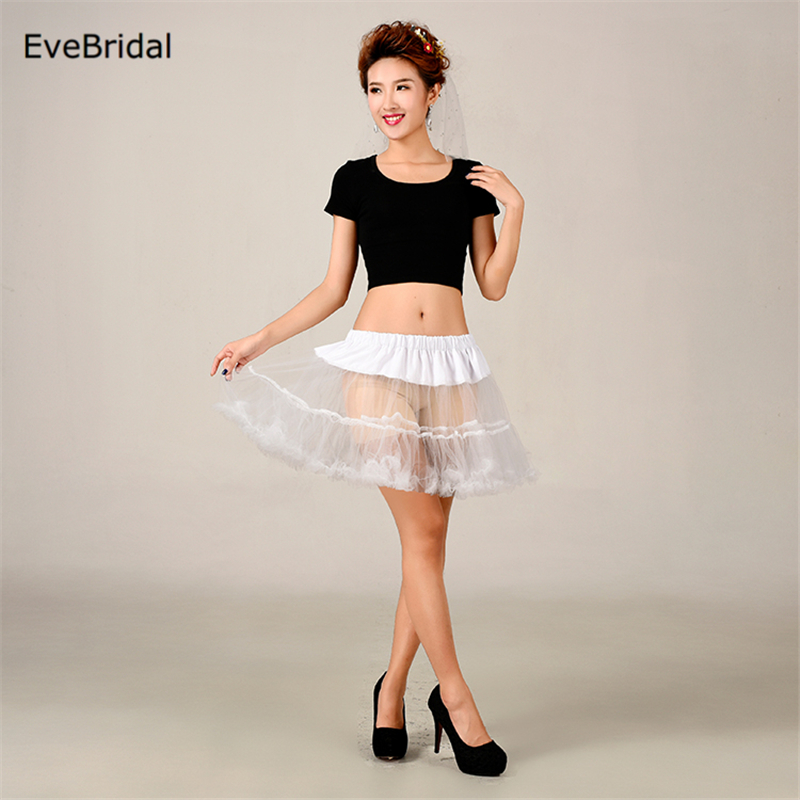 Купить с кэшбэком Short girl Tutu Bridal Petticoat Crinoline Underskirt Wedding Dress Skirt Slips Waist adjustable