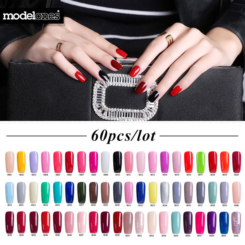 Modelones 60Pcs / Lot Толық жиынтығы Colorful UV Nail - Маникюр - фото 1