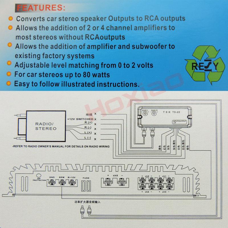 12 V Universal RCA Linie Verwendung für Autoradio android DVD ...