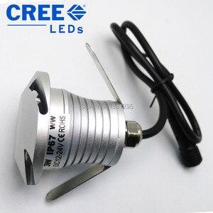 Image 5 - Luci di coperta a LED IP67 12V 24V 3W CREE incasso a pavimento scale passo parete vialetto Patio finitrice lampada sotterranea faretto esterno
